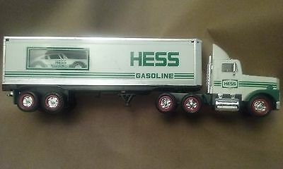 1992 HESS Gasoline 18 Wheeler Truck with Racer NIB MINT BARGAIN