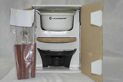 Brand New Le Creuset Cast Iron Le Sauciere - Mini Fondue Set - White - 20/4