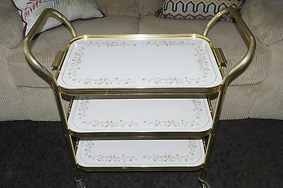 Vintage 3 Tier Tea/Hostess Trolley - Eternal Beau - Johnson Brothers 15/3