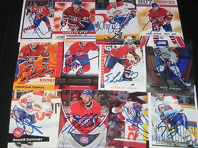 lot of 12 SIGNED autographed MONTREAL CANADIENS cards w/ CRAIG CONROY RIBEIRO