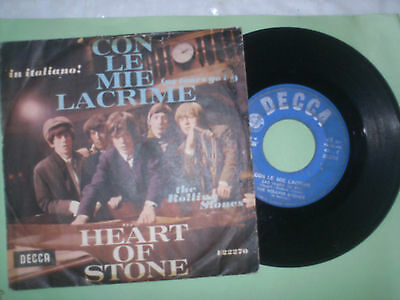 The Rolling Stones Con Le Mie Lacrime Decca F22270 Made In Italy