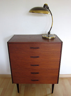 Vintage Kommode Anrichte Highboard Sideboard Teak 60er Danish Design Modernist