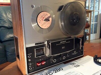 SONY TC280 Reel to Reel Stereo 3 speeds 4 tracks superb condition