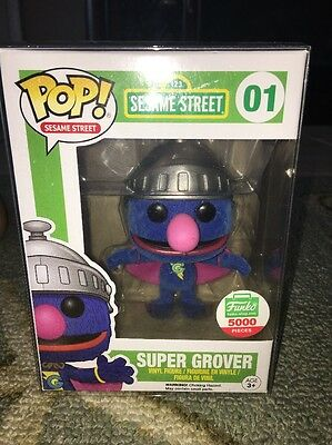 Super Grover Flocked Sesame Street Funko Pop Limited 5000 Shop Exclusive Figure