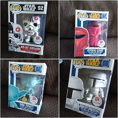 Funko POP LOT of 4 Star Wars #57, #02 YODA, #08, #92 AT-AT Vinyl Figure Toy NEW