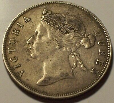 British Honduras, 1895 Victoria Fifty Cents, 50 Cents. 36,000 Mintage.