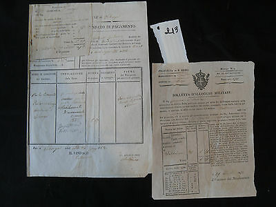 1852 Lotto Documenti S.remo – Albenga - Seborga