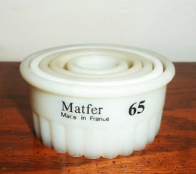 New Matfer Exoglass 5Pc Set Of Round Fluted Pastry Cutters Cookie Biscuit Cutter