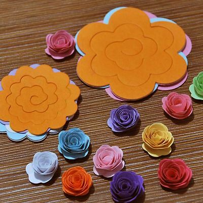 Flower Clipbook Scrapbooking Quilling Rolling Paper Crafts DIY Tools Kit Mould