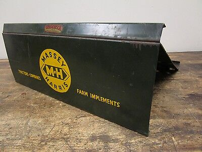 Vintage Massey Harris Tractors Implements Literature Catalog Stand Display Sign