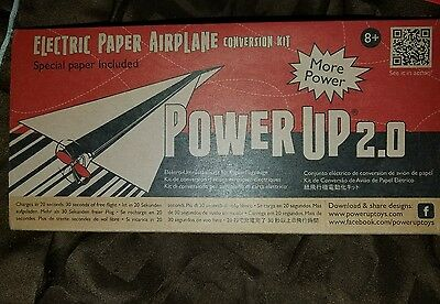 PowerUp 2.0 Electric Paper Airplane Conversion Kit  Plane NIB! Free Shipping!