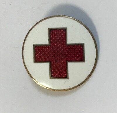 Vintage RED CROSS Pin with emale SUPER NICE RARE type