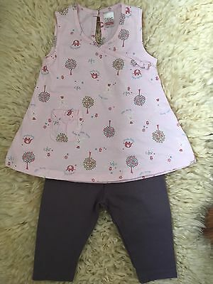 Next Baby Girls Summer Outfit 3-6 Months Dress and Leggings