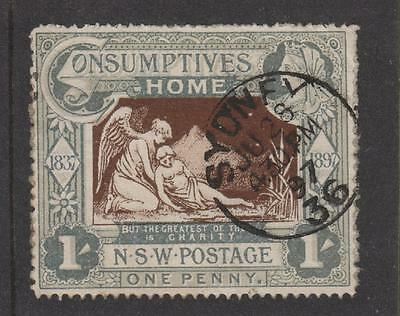 Australia /New South Wales 1897, 1/- Hospital Charity SG280 fine used
