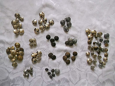 Job Lot Of Vintage Milatry Buttons