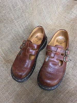 Dr Martens Mary Janes 8065 Brown Shoes Size 6
