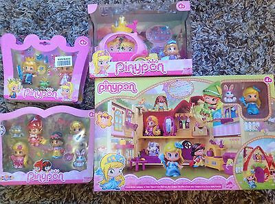PINYPON TALES HOUSE PLAYSET, Fairy Tale Carriage, Princess and Frog and Fairy