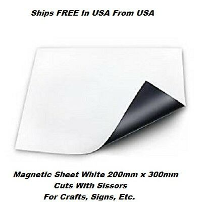 East Mate Flexible Magnet Sheet Vinyl 200 mm x 300 mm Craft, Signs,  Ships FREE