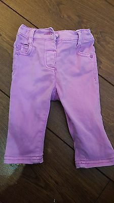 Girls Purple jeans from Next Age 3-6 Months
