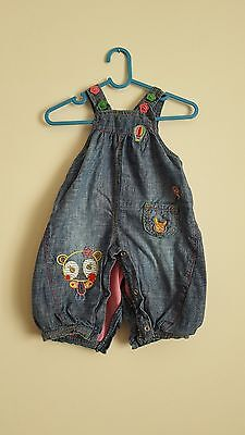 Girls Blue denim dungarees from Next Age 0-3 Months