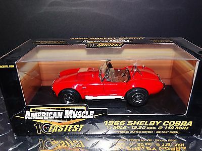 Ertl American Muscle 1966 Shelby Cobra 10 Fastest 1:18 Scale Diecast Limited Car