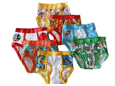 MICKEY MOUSE 7-pack Toddler Boys Briefs Sizes 2T/3T, 4T NEW Handcraft DISNEY