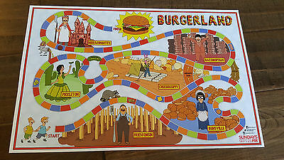 2016 Sdcc Comic Con Exclusive Fox Poster Bobs Burgers Burgerland Tina Louise