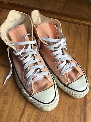 VTG Converse All Star Chuck Taylor Hi Made in USA Rare Peach Men's 7.5 Wmns 9.5