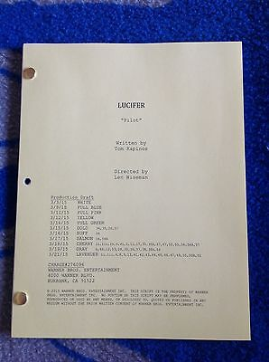 LUCIFER TV SHOW Script Pilot Episode, Great Keepsake, Color Cover, 56 Pages