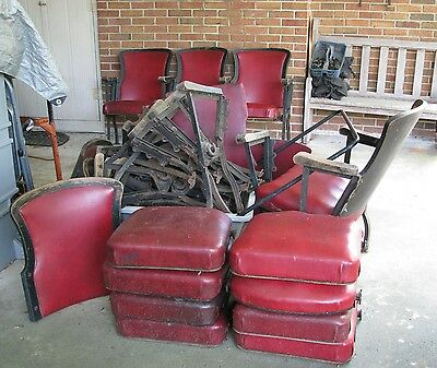 Old Theater Seats from old Danville Virginia Theater. Lot $100.  Pick Up Only.