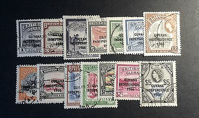 Guyana 1966 Independence Stamps Used