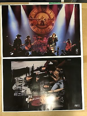 Guns n roses concert TWO POSTERS UNCUT RARE CHERRY LANE MUSIC VINTAGE DONT MISS