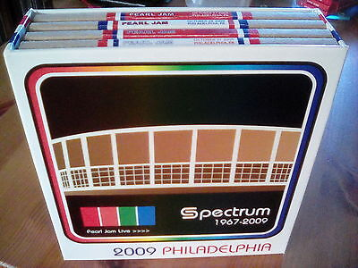 Original Pearl Jam CD Boxset Live Spectrum Philadelphia 4 Nights 2009