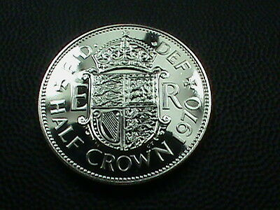 GREAT  BRITAIN     1 / 2  Crown    1970    PROOF  Deep  Cameo