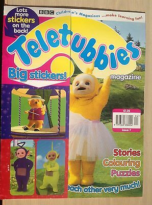 Vintage Teletubbies magazine.  Issue 7. 1998  Immaculate. Big stickers as gift.