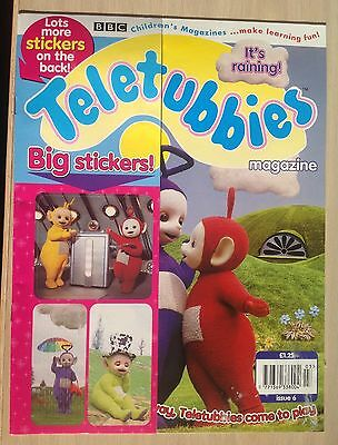 Vintage Teletubbies magazine.  Issue 6. 1998  Immaculate. Big stickers as gift.