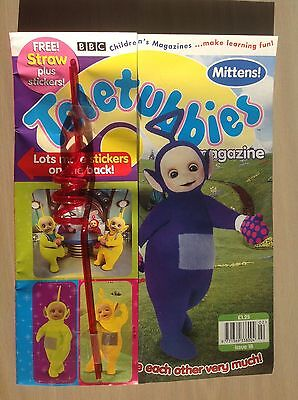 Vintage Teletubbies magazine.Issue 18 1999  Immaculate.Curly Straw gift