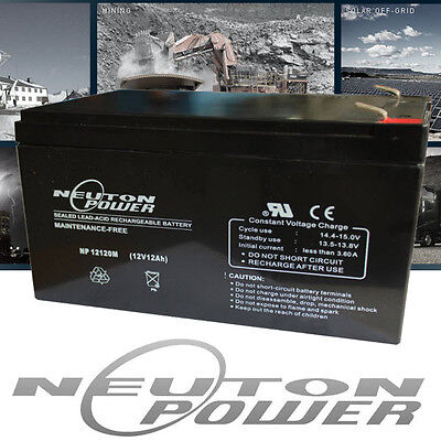 Neuton Power 12V 12AH Sealed Lead-Acid Battery AGM 4 UPS Solar Scooter eBike