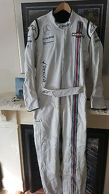 f1 williams martini genuine pit crew suit