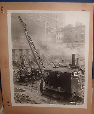 8 X10 Photo Shovel The Osgood Co Marion Ohio Loading A Truck 1924