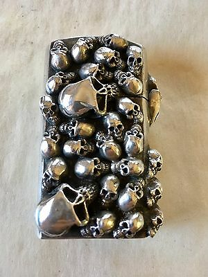 Stanley Guess Skull Lighter Zippo Sterling Biker Jewelry