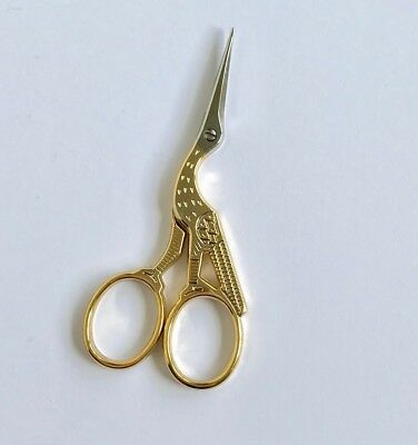 "Janome Stork Embroidery Scissors 9cm/3.5"" Top Quality Narrow Point Sewing"