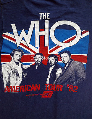 The WHO American Tour 1982 Beautiful Vintage Concert Medium Tag Size M T-Shirt