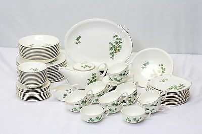 Paden City Pottery Oven Proof 80 pc. Ivy Leaf Gold Edge China / Tea Set