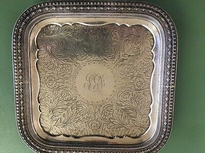 TIFFANY AND CO STERLING SILVER TRAY/trivet Vintage