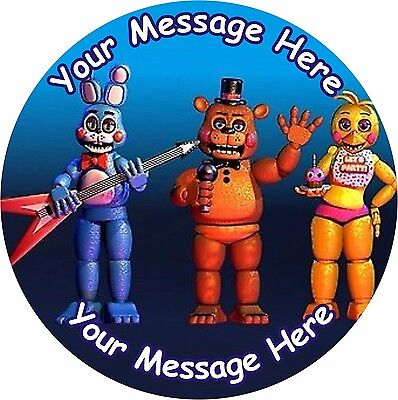 """Fnaf 3 Five Nights At Freddy's 3 Round 7.5"""" Cake Topper Icing Or Ricepaper"""