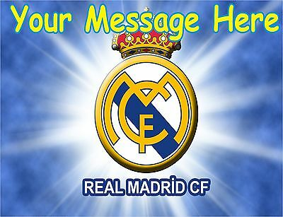 Real Madrid  A4 Icing Cake Topper