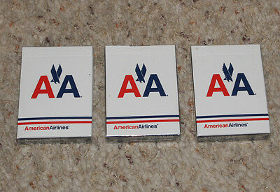Vintage American Airlines Playing Cards, Sealed Three Packs