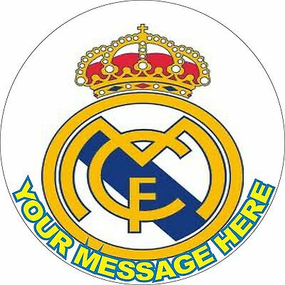 "Real Madrid  7.5"" Round Icing Cake Topper"