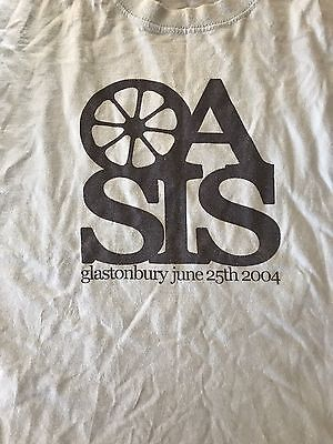 Oasis 2004 Glastonbury T Shirt Very RARE